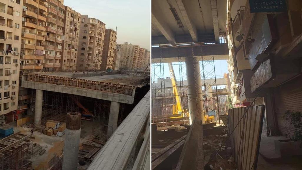 أغلق نوافذ بعضها بالكامل.. جسر ملاصق لعمارات سكنية يثير سخرية المصريين
