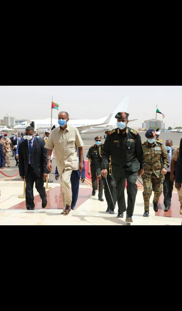 وصول الرئيس الأريتري إلى الخرطوم اليوم