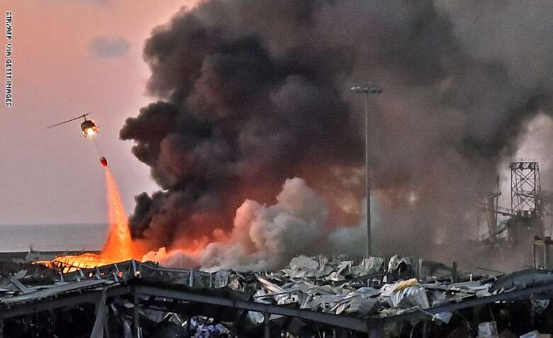 ارتفاع قتلى انفجار بيروت إلى (135) قتيلاً و (5) ألف من المصابين