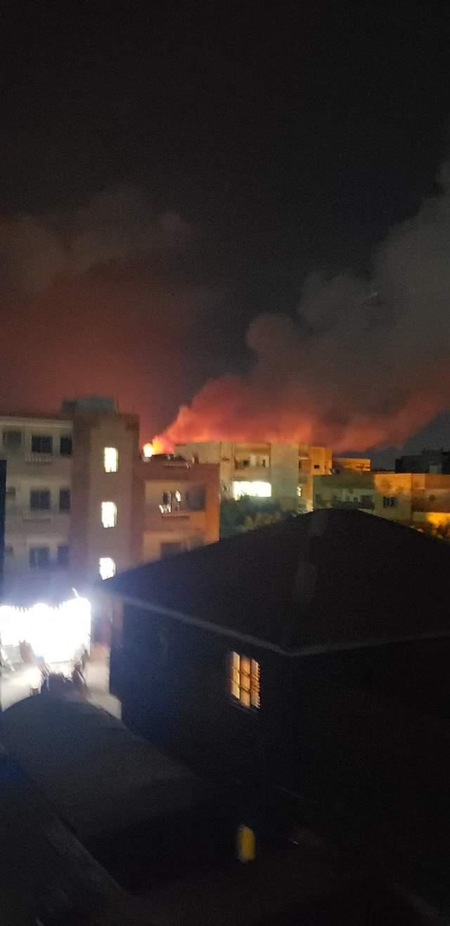 عاجل | بالصورة : حريق هائل بمخازن الذخيرة بالشجرة