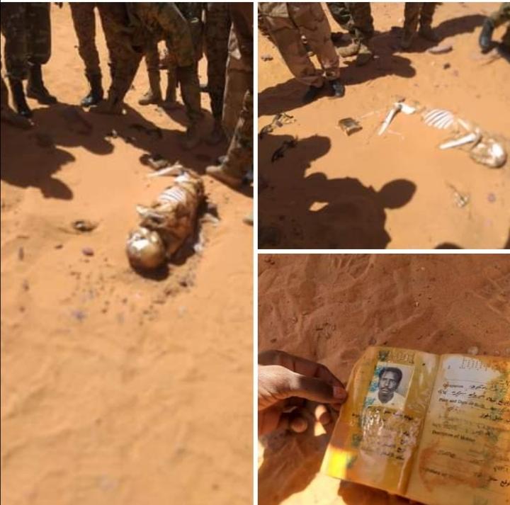 بالصور.. العثور على جثة سوداني بصحراء ليبيا ومناشدة للتعرف على ذويه