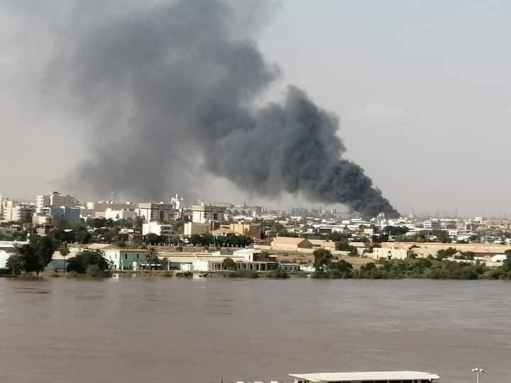 اندلاع حريق هائل بالخرطوم بحري