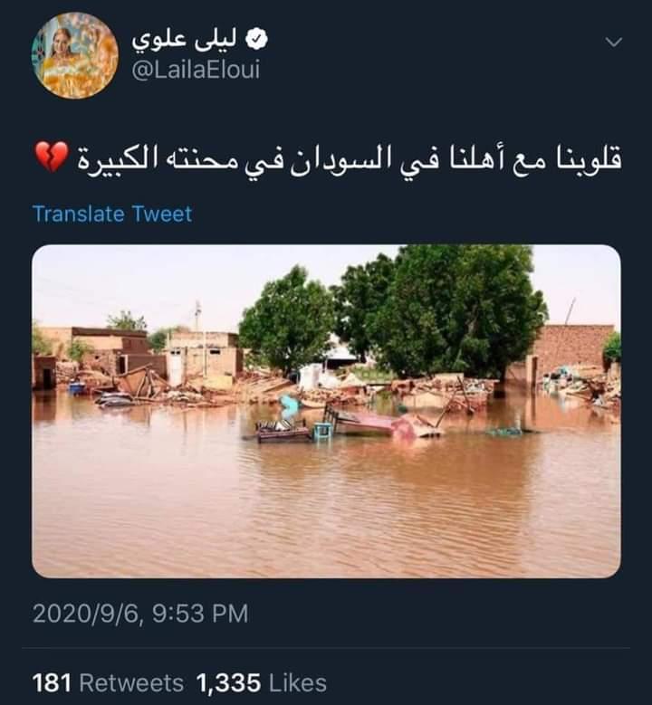 تضامن واسع من نجوم الوطن العربي والشعوب العربية مع أزمة فيضانات السودان