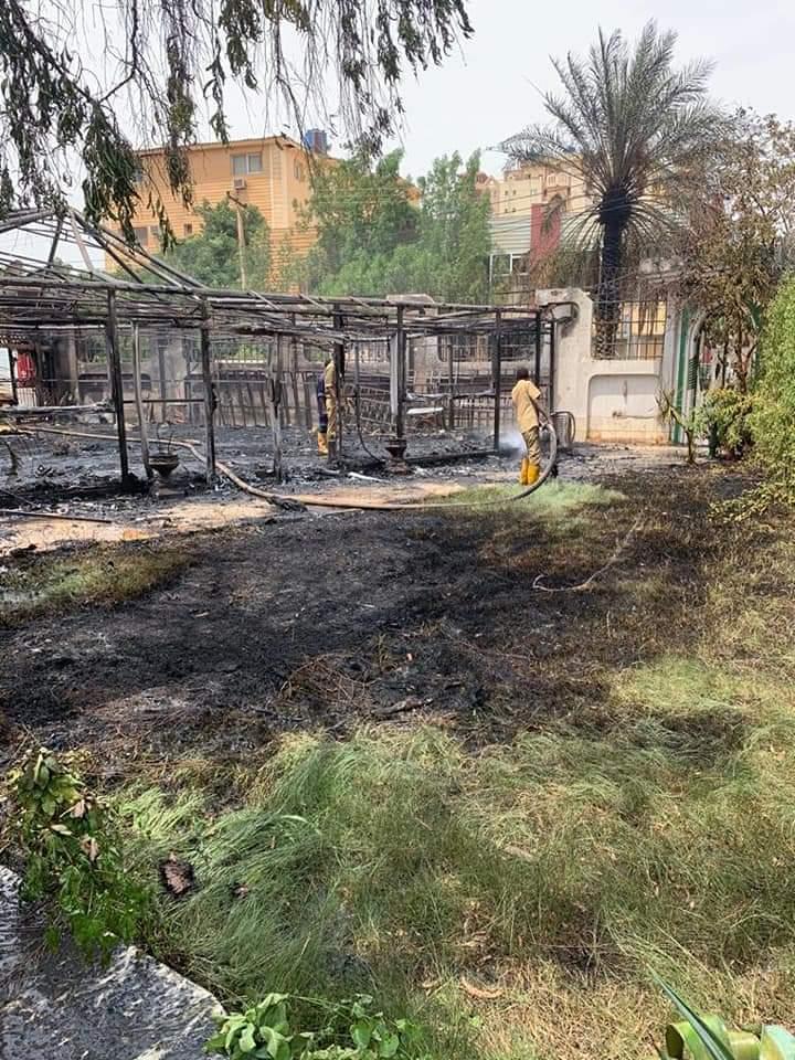 حريق في الملحقية الثقافية السعودية بالخرطوم