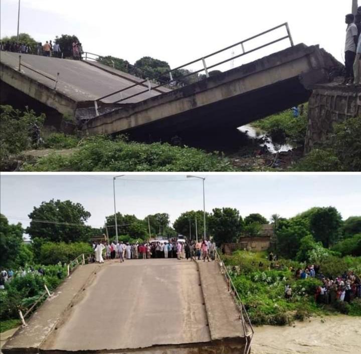 الفيضانات تقطع الجسر الرابط بين طرفي مدينة شندي وتسجيل خسائر جديدة بالأرواح والممتلكات